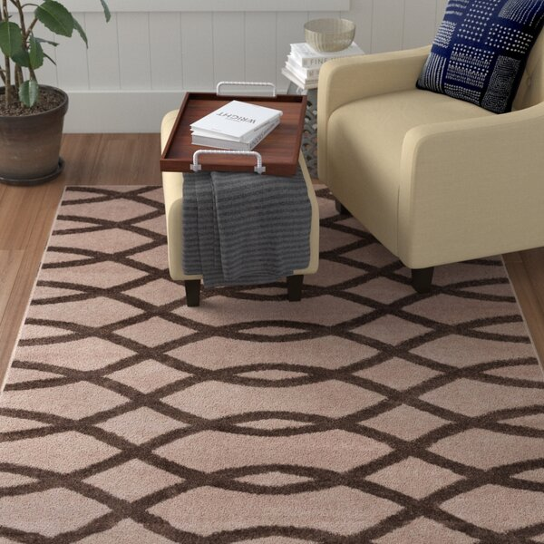 Manning Poofy Brown/Beige Area Rug by Winston Porter