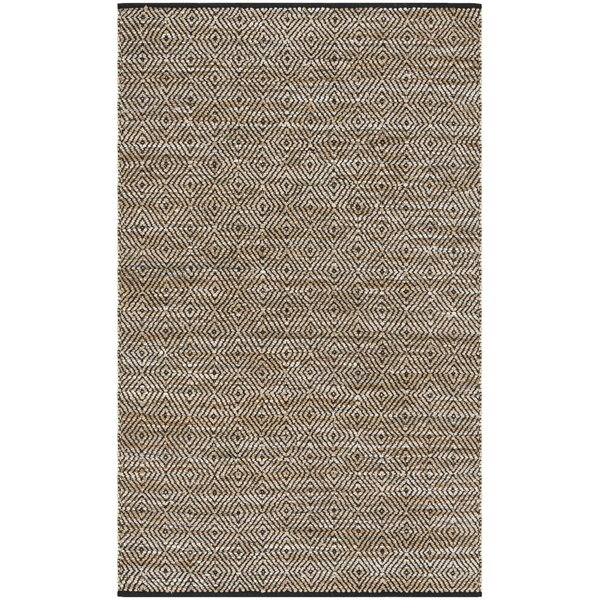 Swayze Contemporary Hand Tufted Brown Area Rug by Mistana