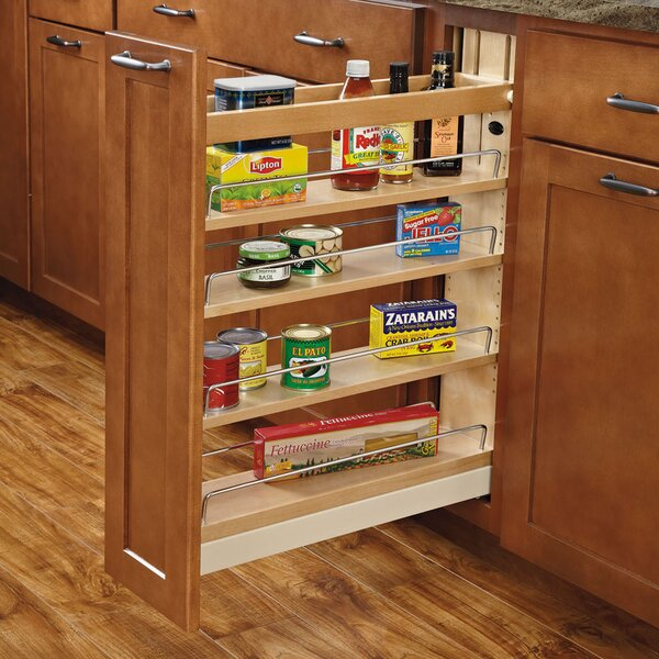 Ball-Bearing Soft-Close Base Cabinet Organizer by Rev-A-Shelf