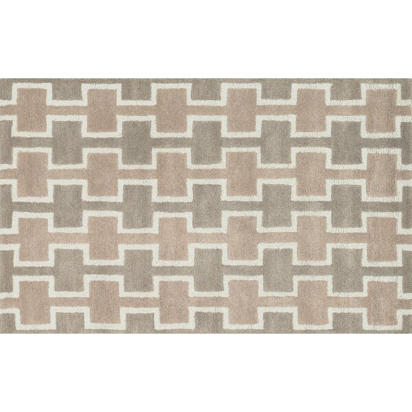 Maziarz Hand-Tufted Brown Area Rug by Ivy Bronx