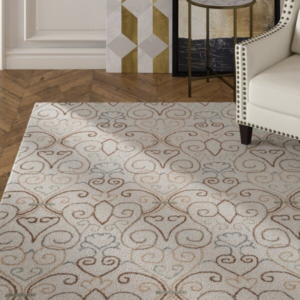 Rienne Hand-Tufted Ivory Area Rug by House of Hampton