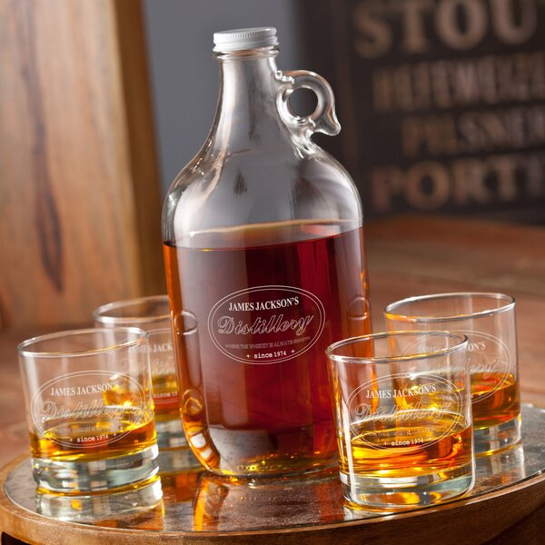 Printed Distillery Drinkware Set by JDS Personalized Gifts