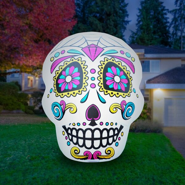 Airblown Inflatable Halloween Skull by The Holiday Aisle