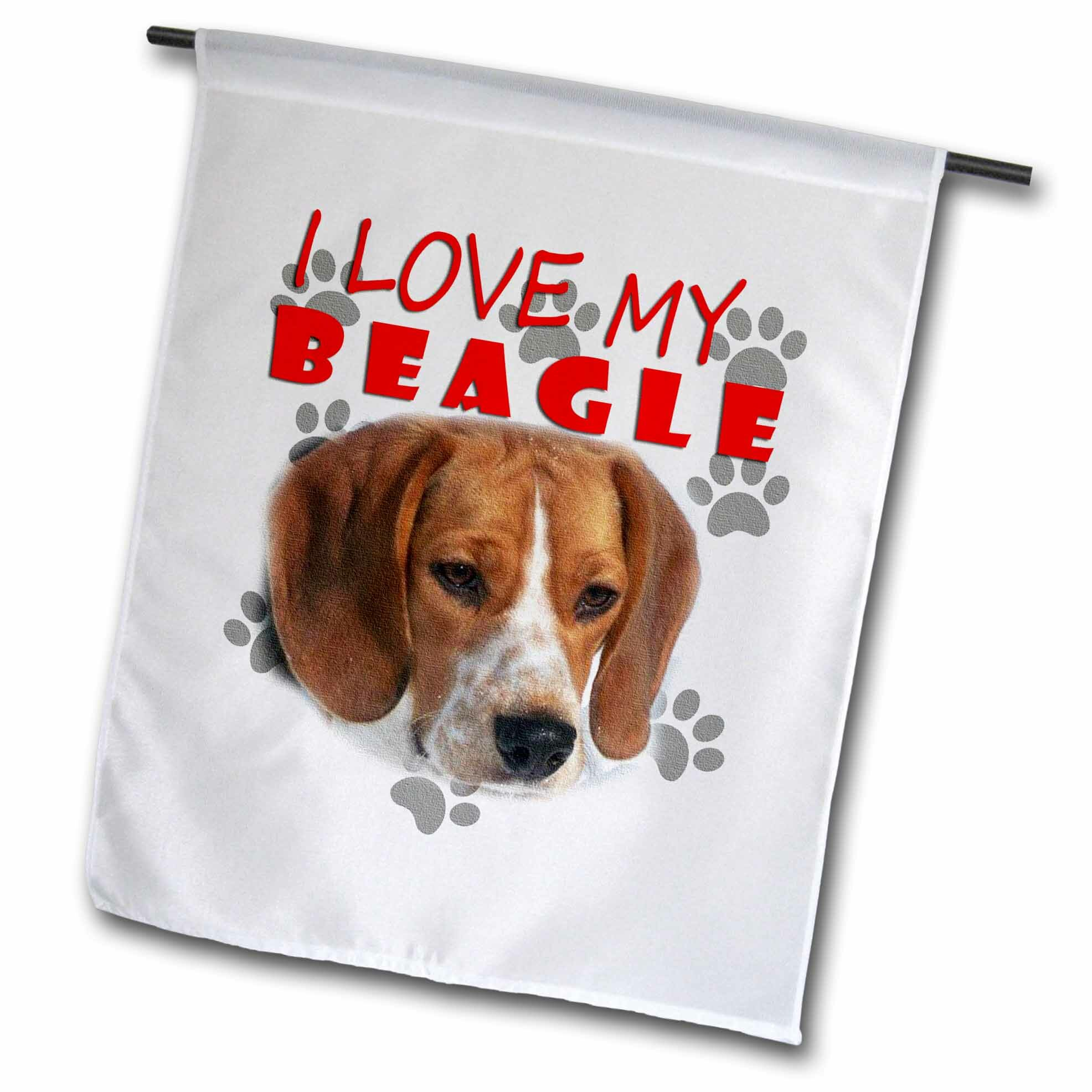 I Love My Beagle Canvas Cute Puppy