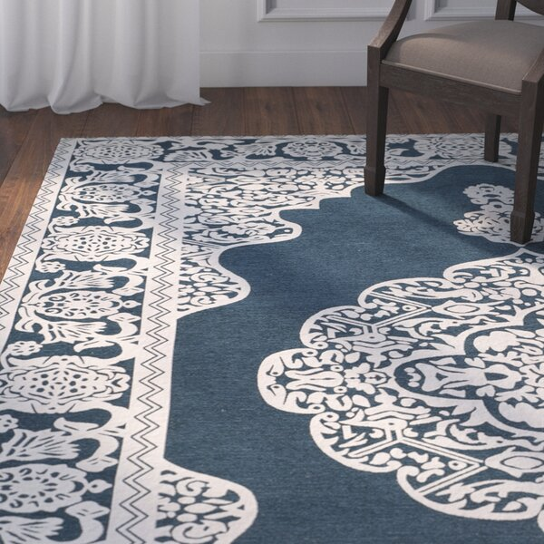 Howe Hand-Woven Blue Area Rug by Astoria Grand