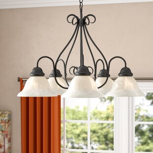 Inexpensive Claycomb 5-Light Shaded Chandelier By Fleur De Lis Living