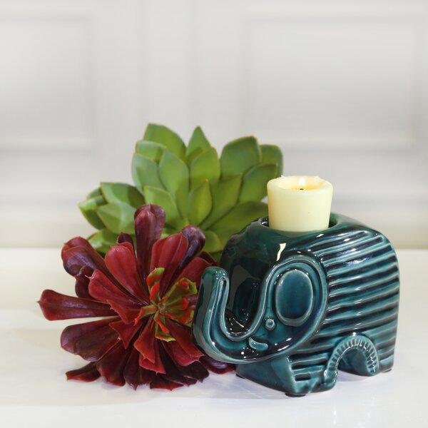 World Menagerie Elephant Ceramic Tealight Wayfair