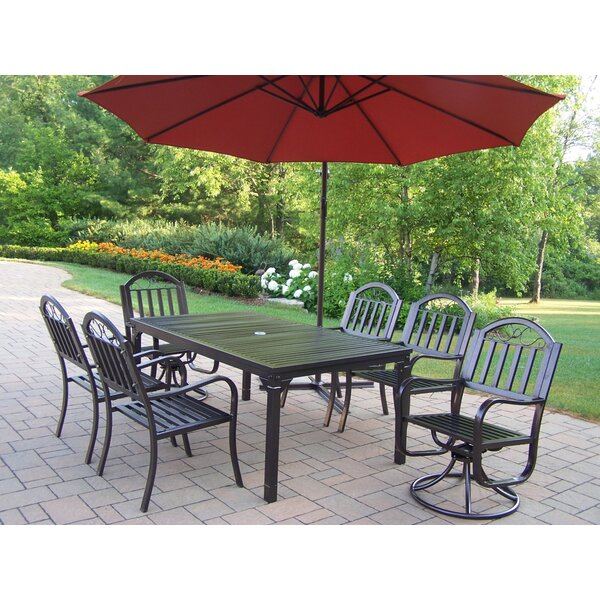 Lisabeth Traditional 7 Piece Dining Set by Red Barrel Studio