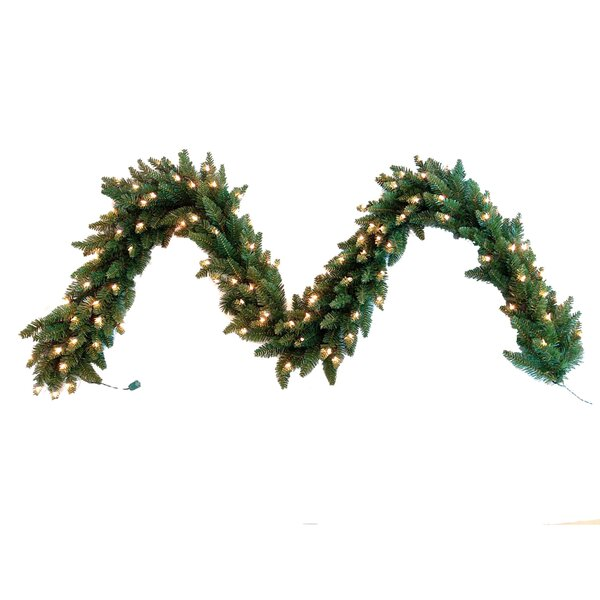 Pre-Lit Scotland Pine Garland by Kurt Adler