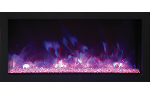 Fleeman Extra Slim Wall Mounted Electric Fireplace by Orren Ellis