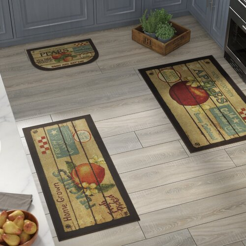 August Grove Corrine 3 Piece Fruit Crate Kitchen Mat Set Reviews