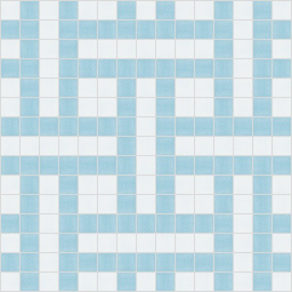 Urban Essentials Basket Weave 3/4 x 3/4 Glass Glossy Mosaic in Breeze Blue by Mosaic Loft