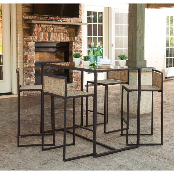 Dunphy 5 Piece Bar Height Dining Set by Wrought Studio