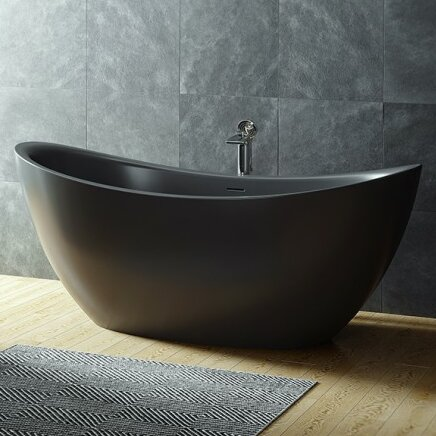 Purescape 53.25 x 53.25 Freestanding Soaking Bathtub by Aquatica