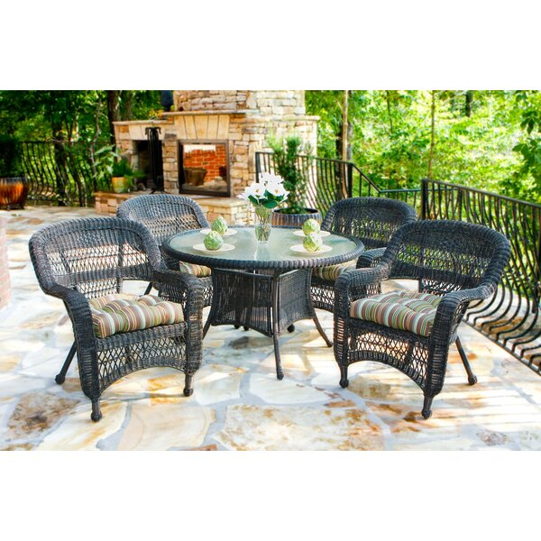 Ray 5 Piece Dining Set with Cushions by Alcott Hill