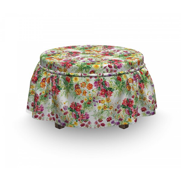 Peony Ottoman Slipcover (Set Of 2) By East Urban Home