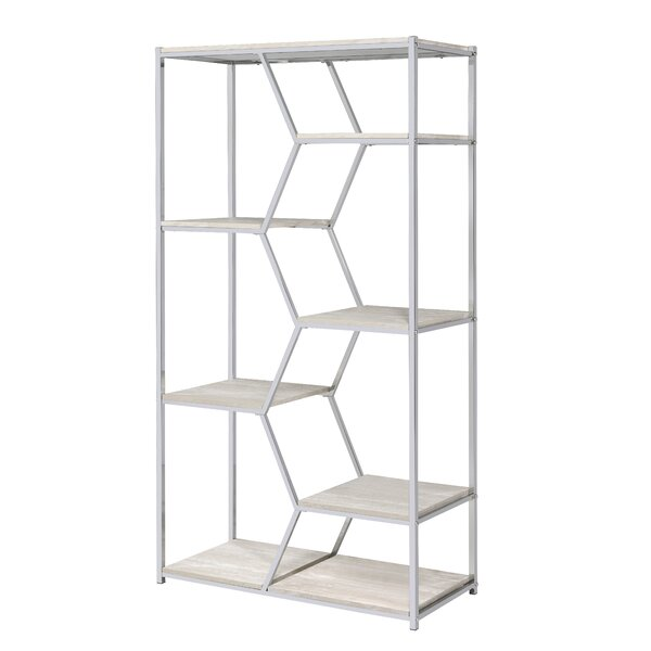 Pateros Geometric Bookcase by Everly Quinn Everly Quinn