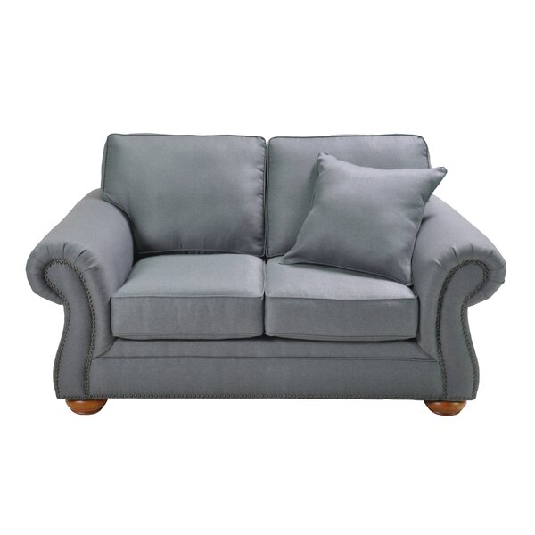 Hutson Stationary Loveseat by Alcott Hill