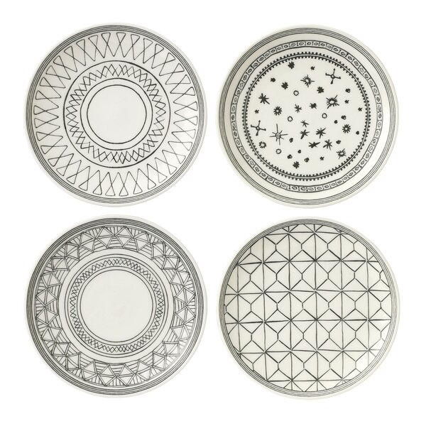4 Piece 6 Bread and Butter Plate Set by ED Ellen D
