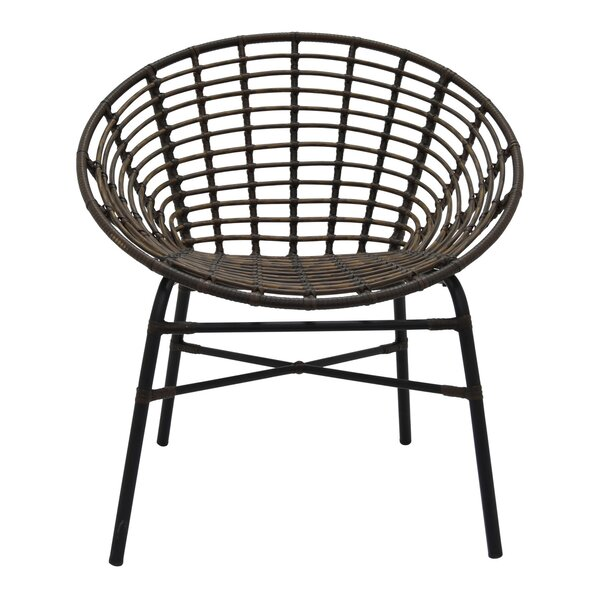 Bianco Metal Barrel Chair by Bungalow Rose