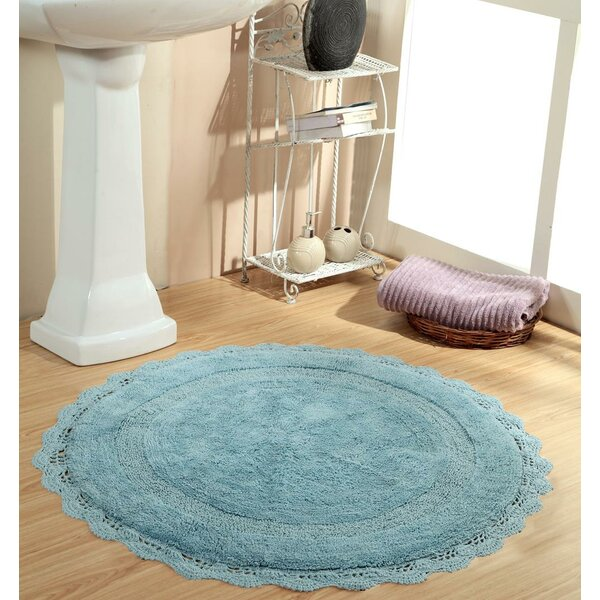 Wingert Round Crochet Designer Bath Rug by Ophelia & Co.