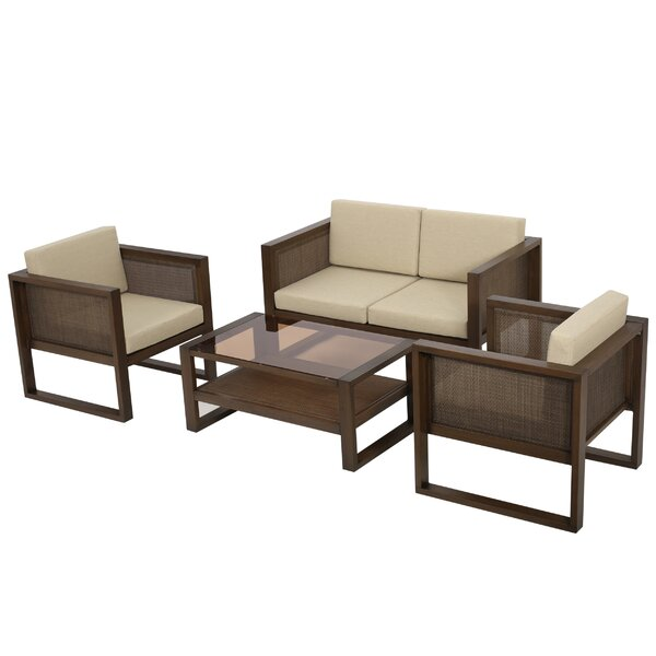 Valmonte 4 Piece Sofa Set with Cushions by Corrigan Studio