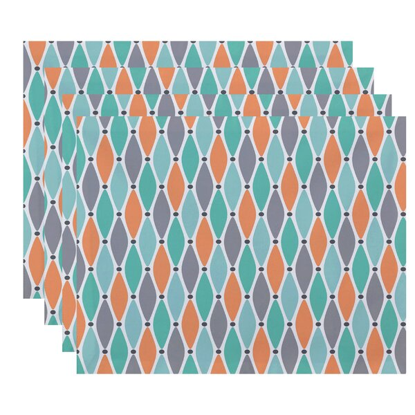 Cedarville Wavy Geometric Print Placemat (Set of 4) by Highland Dunes