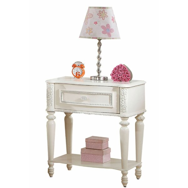 Duncombe Floral Carved Trim 1 Drawer Nightstand by House of Hampton