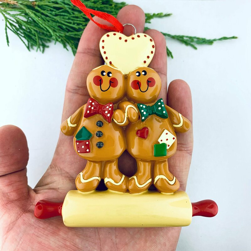 The Holiday Aisle Gingerbread Cookies Couple Hanging Figurine Ornament Wayfair