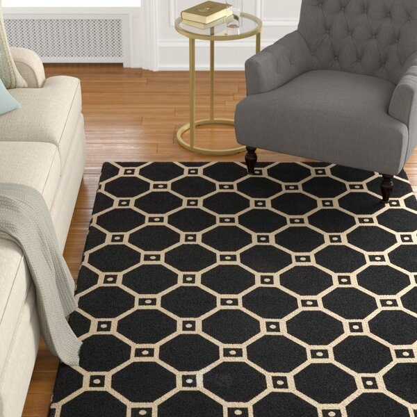 Argo Black Area Rug by Charlton Home