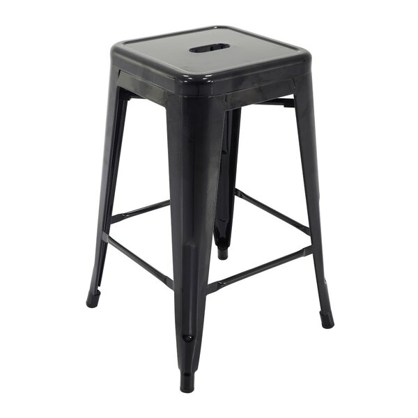 Castanon Stackable 24 Patio Bar Stool (Set of 4) by Ivy Bronx
