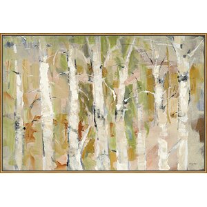 'White Forest I v.2' Framed Painting Print on Canvas by Ashton Wall Décor LLC