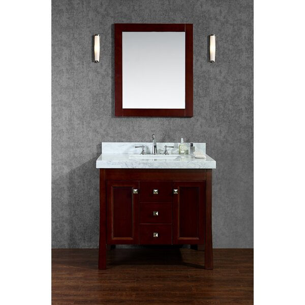 Greenbrier 36 Single Bathroom Vanity Set with Mirror by Ariel Bath