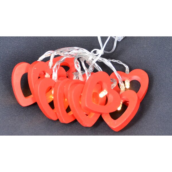 Heart String Lights (Set of 2) by The Holiday Aisle