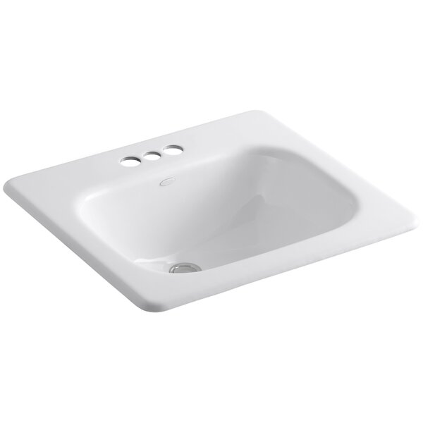 Tahoe Metal Rectangular Drop-In Bathroom Sink with Overflow by Kohler