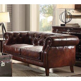 Bavis Leather Loveseat