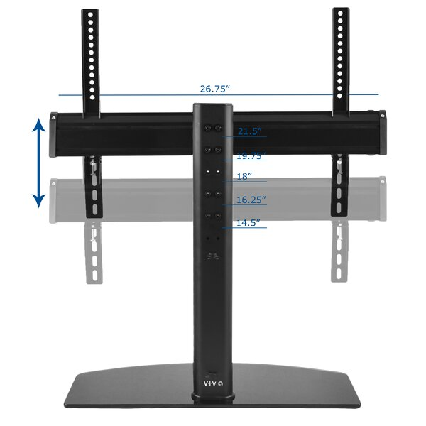 Universal Flat Screen TV Table Top Stand Glass Base Desktop Mount For 32
