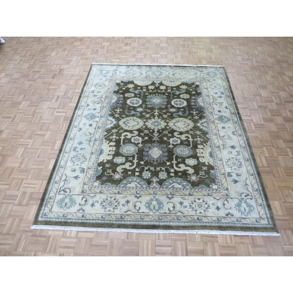 One-of-a-Kind Josephson Oushak Hand-Knotted Wool Brown Area Rug by Canora Grey