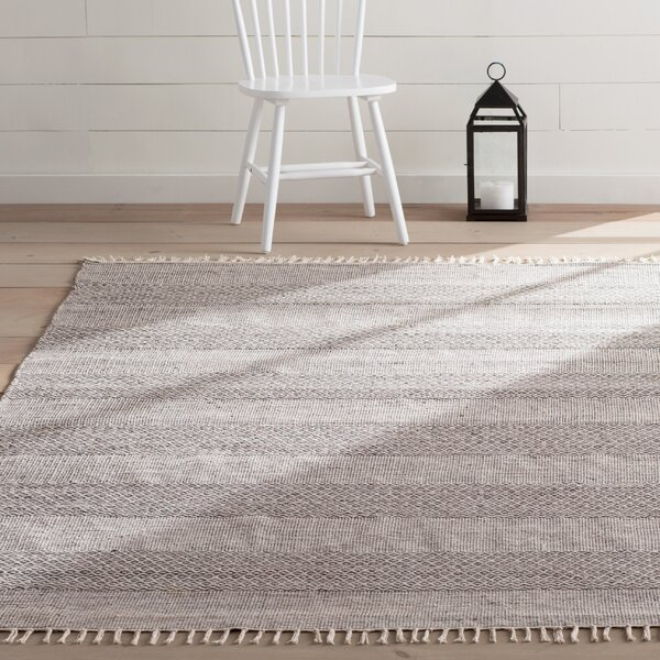 Oxbow Hand-Woven Ivory/Anthracite Area Rug by Laurel Foundry Modern Farmhouse