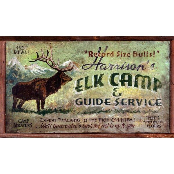 Elk Camp Vintage Advertisement Plaque by Millwood Pines