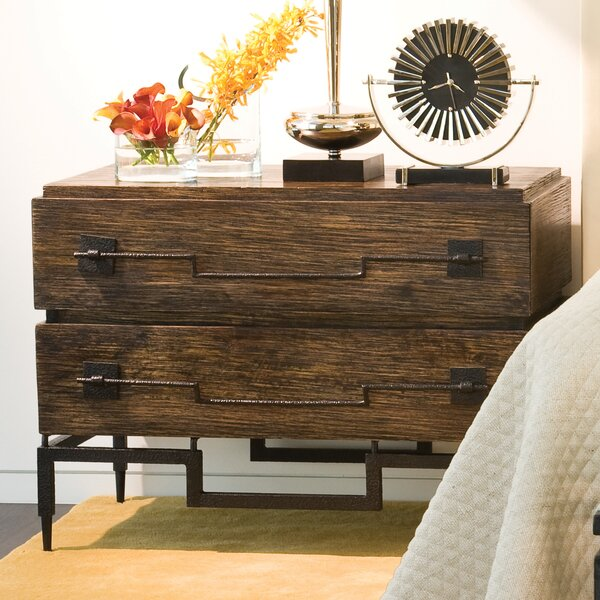 2 Drawer Wide Chest by Global Views