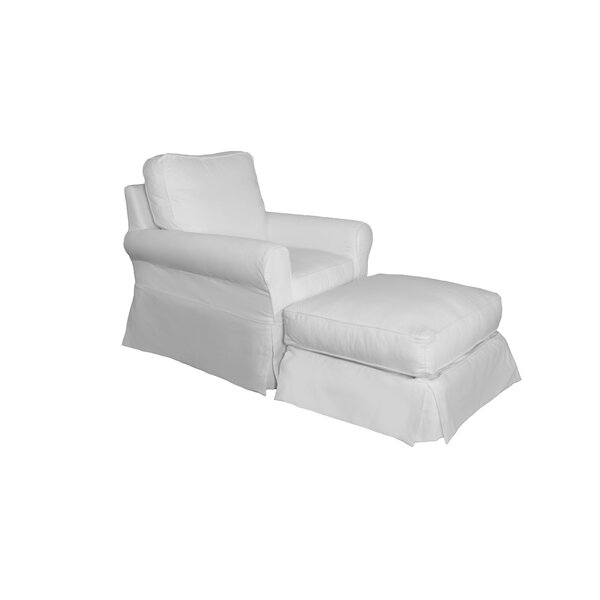 Rundle Armchair And Ottoman Slipcover By Beachcrest Home