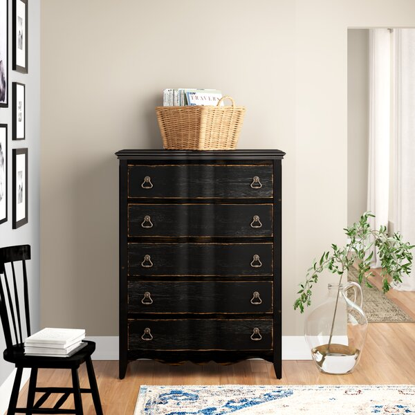 Bartow 5 Drawer Chest by Three Posts