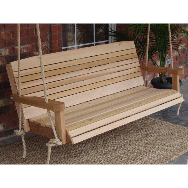Gemma Cedar Rope Porch Swing by Millwood Pines
