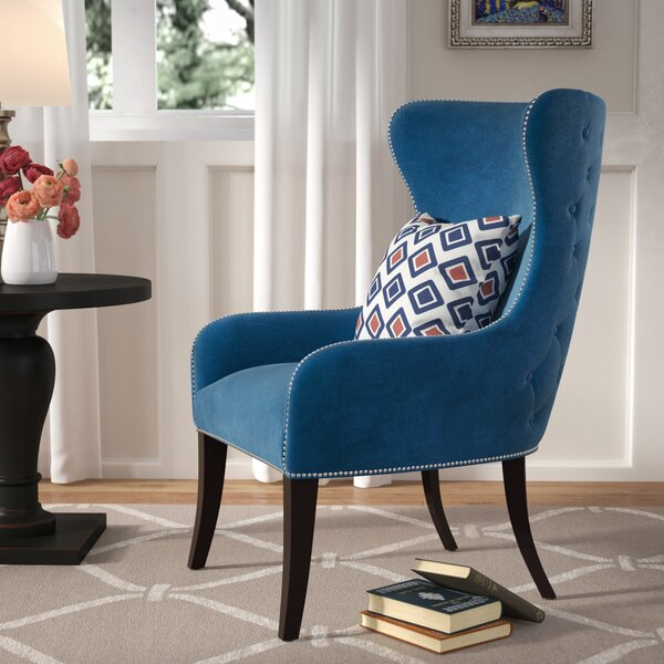 Alan Wingback Chair by Three Posts