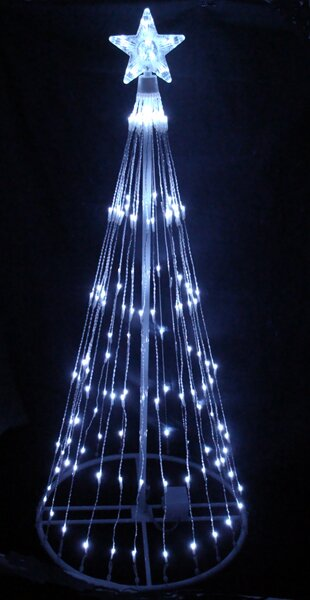Decorative LED Light Show Cone Christmas Tree Lighted Display by LB International