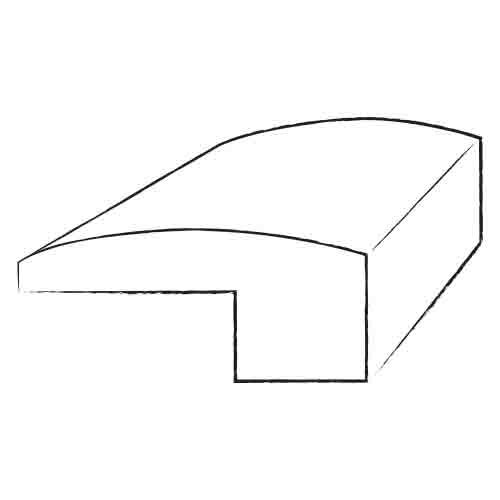 0.62 x 2 x 78 White Oak Threshold in Nickel by Bruce Flooring