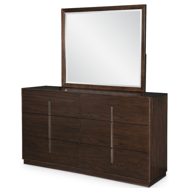 Sallie 6 Drawer Double Dresser with Mirror by Brayden Studio