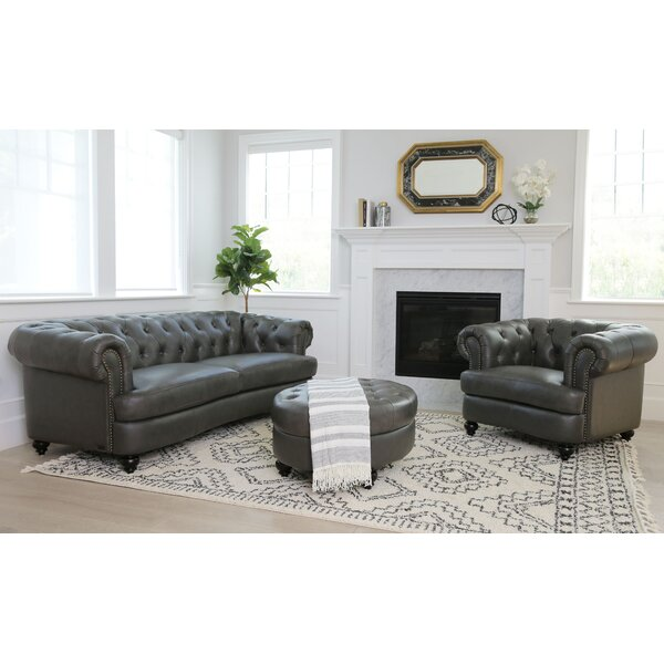 Barnabas 3 Piece Leather Living Room Set by Darby Home Co
