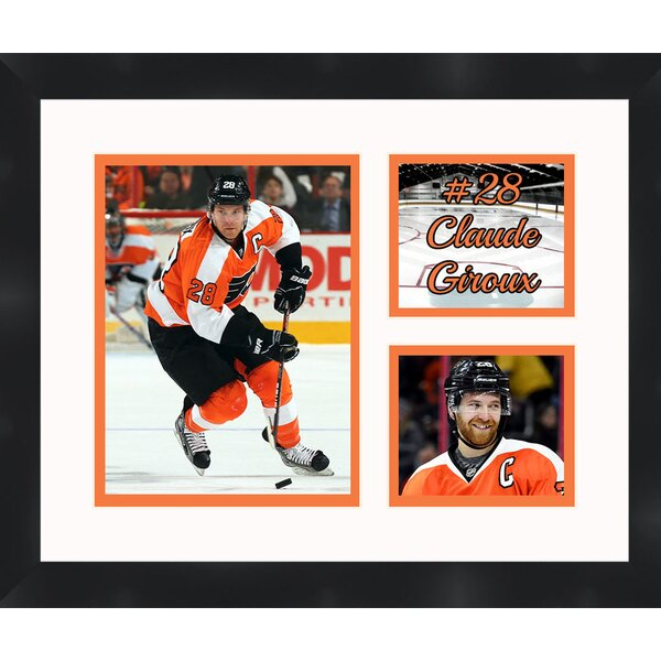 Claude Giroux 28 Philadelphia Flyers Collage Photographic Print by Frames By Mail